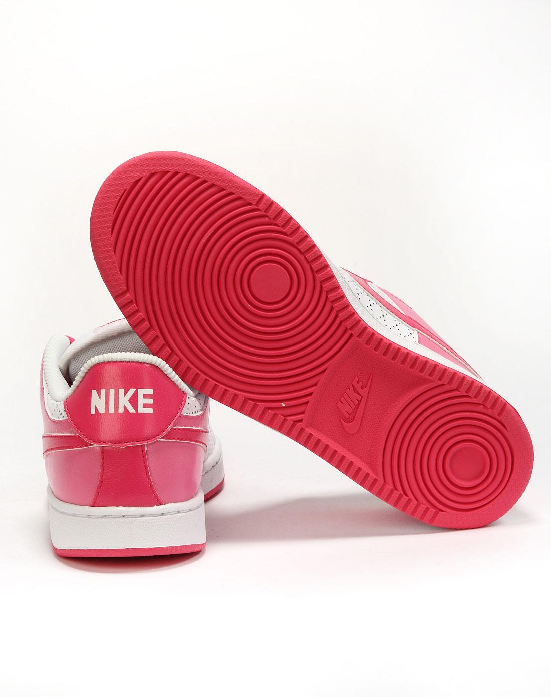 耐克nike女款粉红/白运动文化鞋
