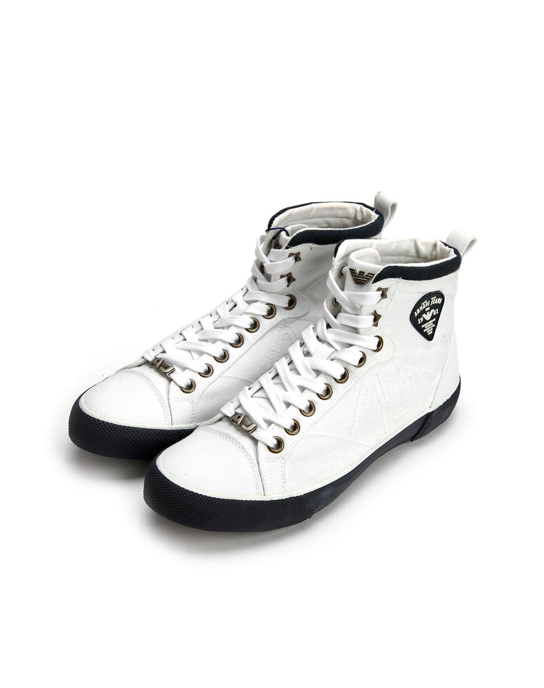 armani鞋子专场aj男款灰白色绑带休闲鞋m65078110