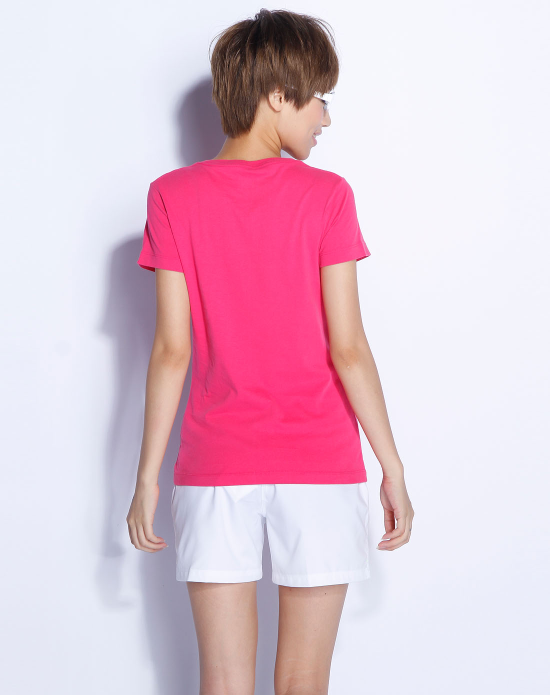 玫红色印花短袖t恤_耐克nike-女装专场特价