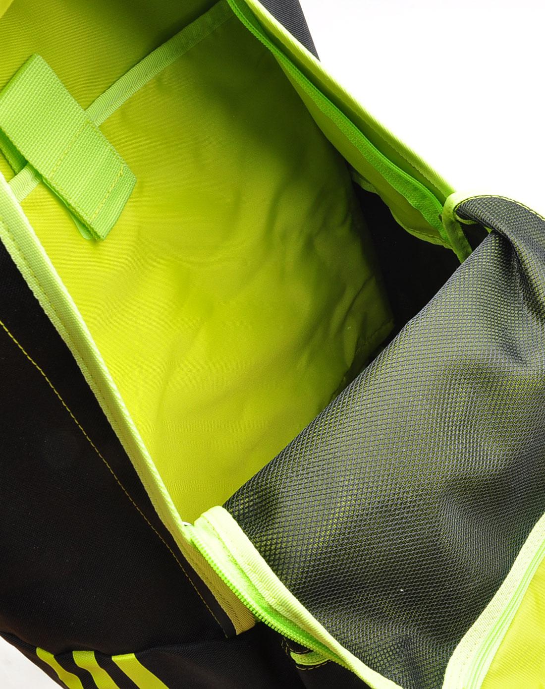 阿迪达斯adidas男女装neo中性黑色时尚荧光logo双肩