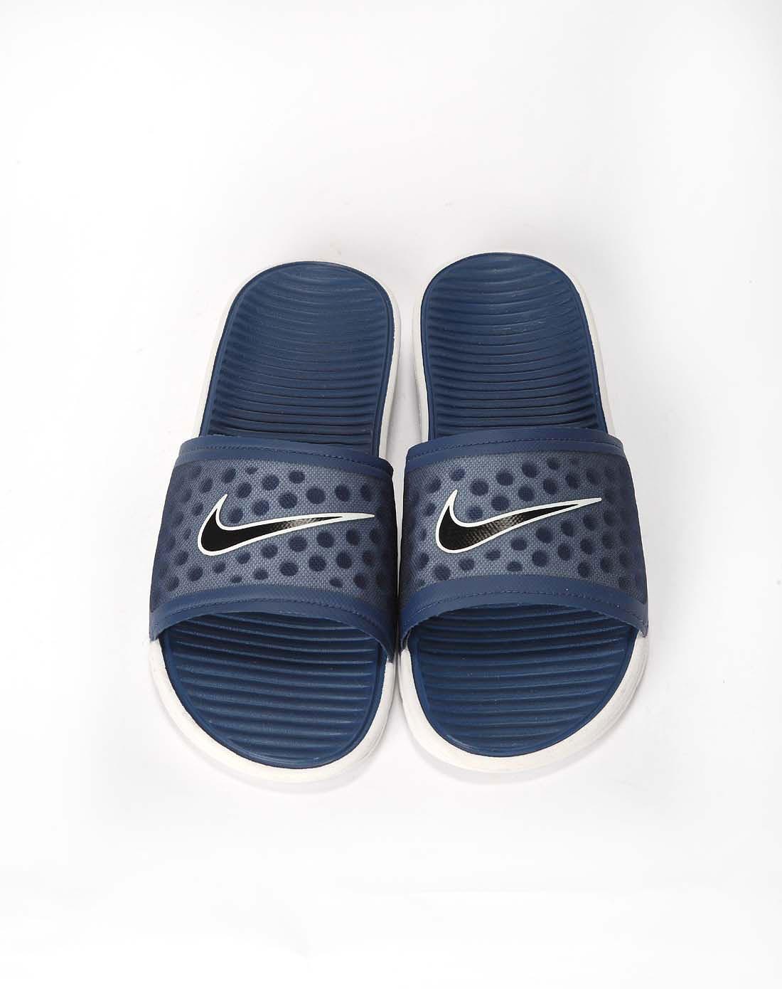 耐克nike男款庭蓝/白凉拖鞋