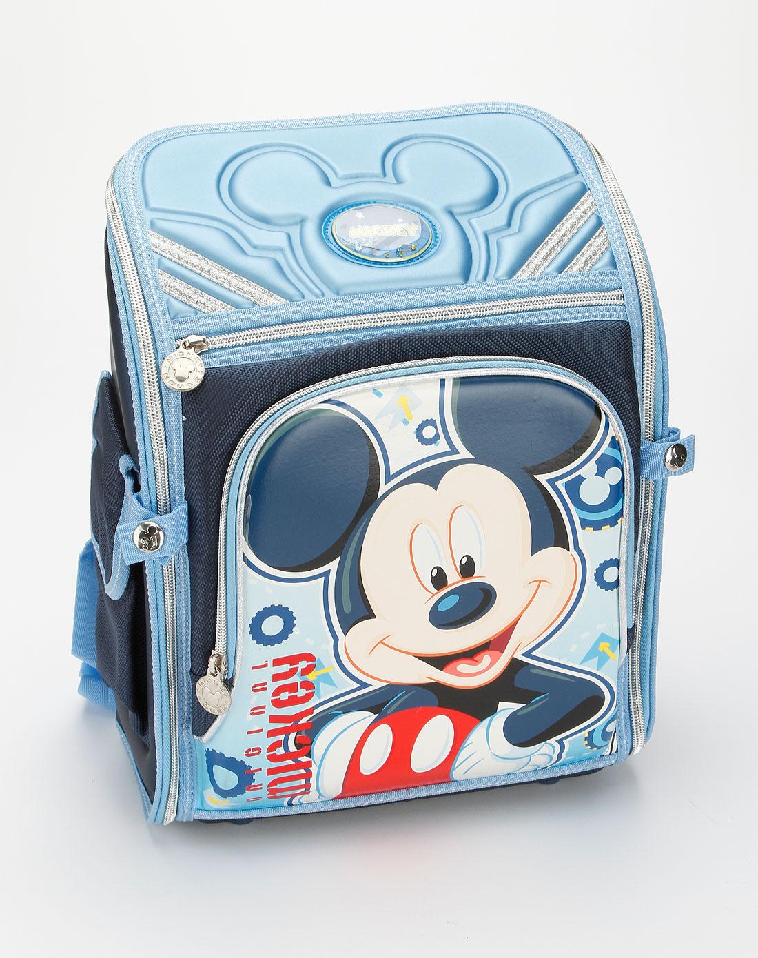 迪士尼disney儿童用品专场男童蓝色米奇减负学生书包