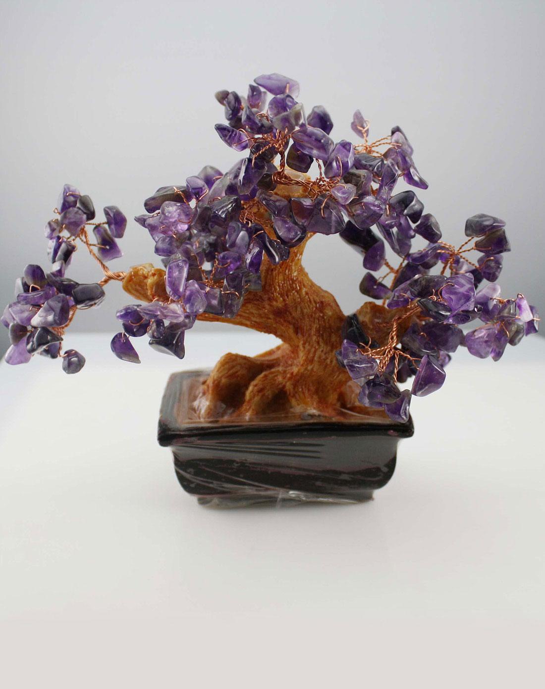 风水摆件天然紫水晶摇钱树 盈满堂官网特价1.7图片