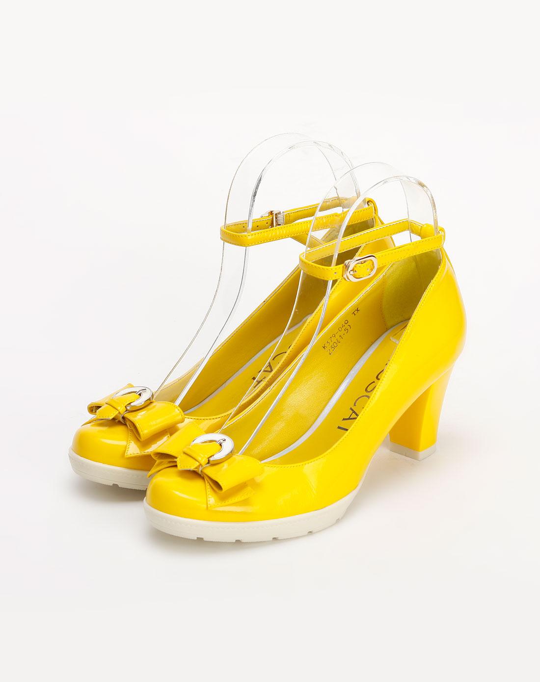 鲜黄色蝴蝶结单鞋_kisscat官网特价1.5-3.5折
