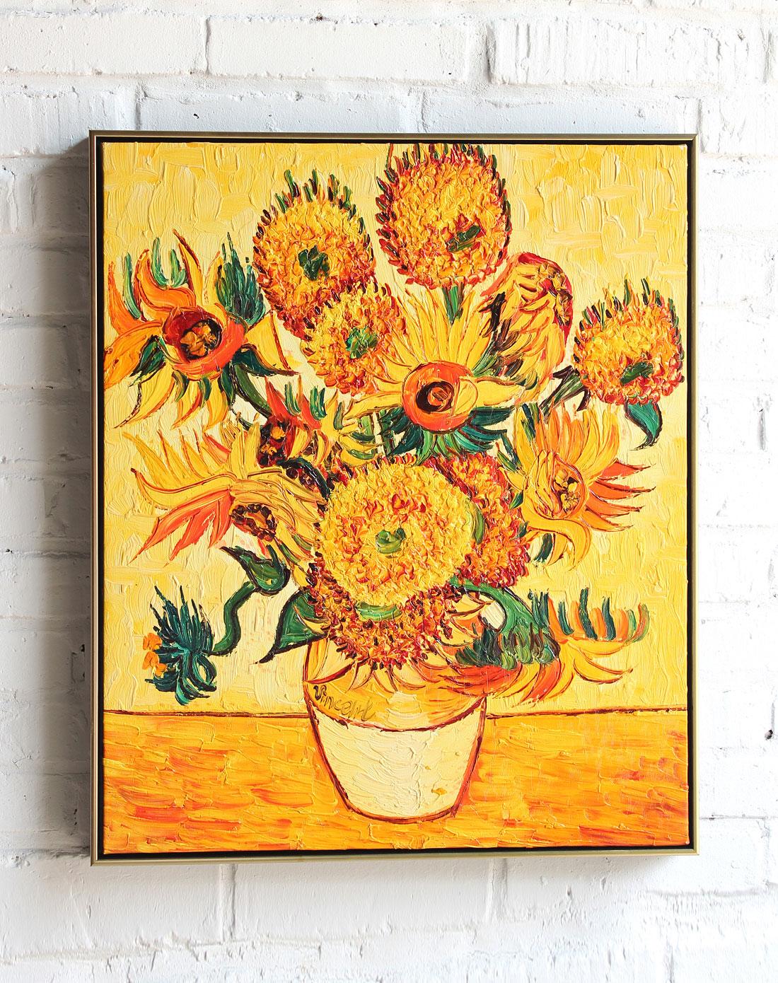 梵高向日葵 梵高向日葵油画原画 梵高向日葵真迹图片