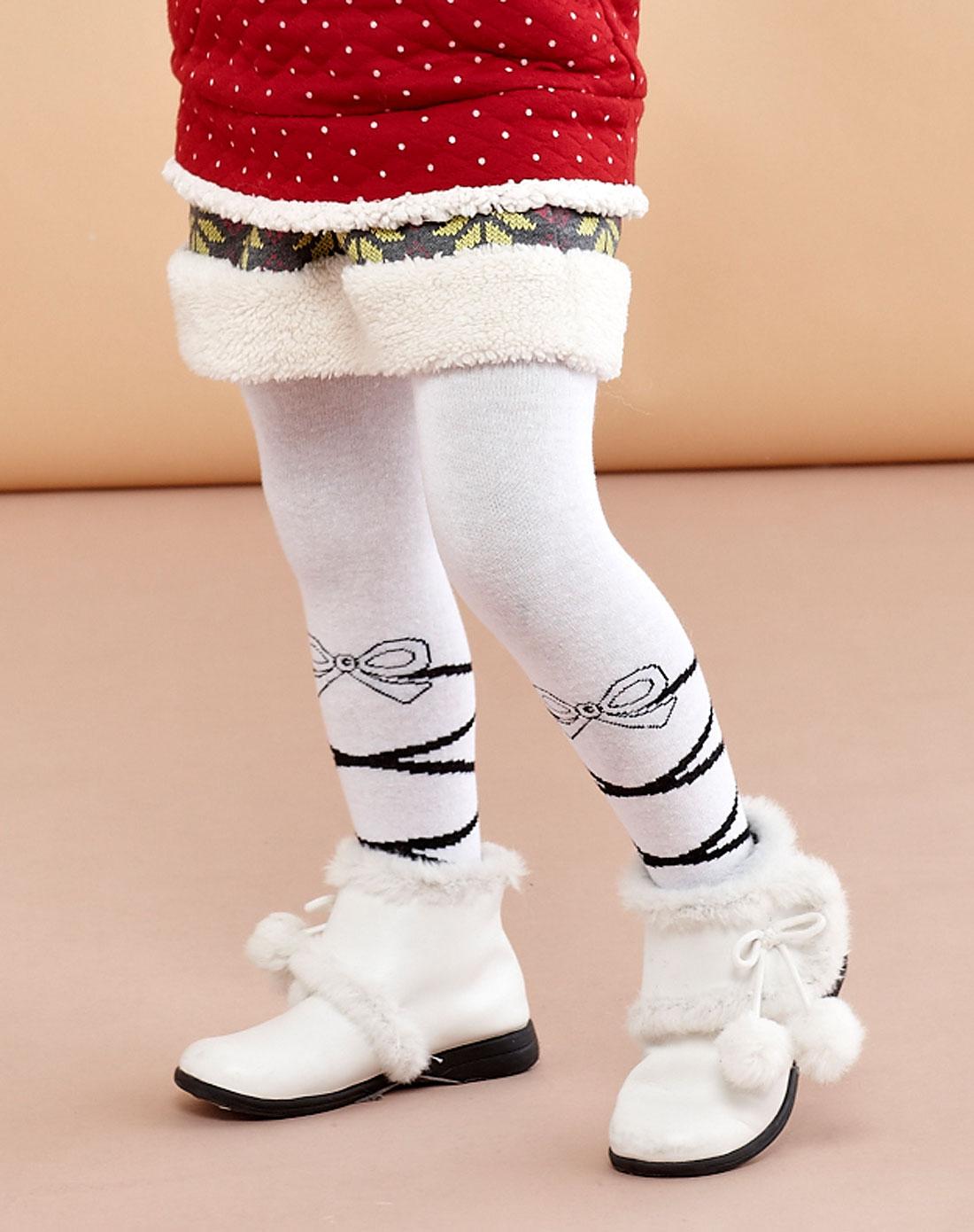 欧梦达euro kids男女童混合专场女童本白色芭蕾女生梦幻连裤袜