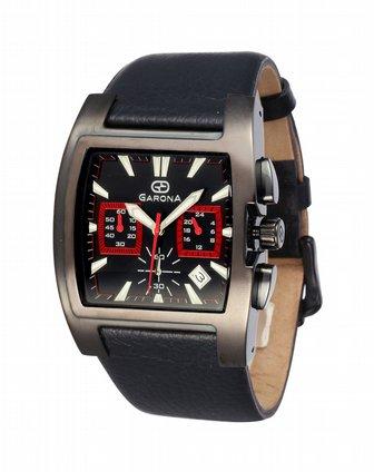 NA 男款黑色方形皮带手表 GARONA ESPRIT GRUEN手表专场特价4.图片