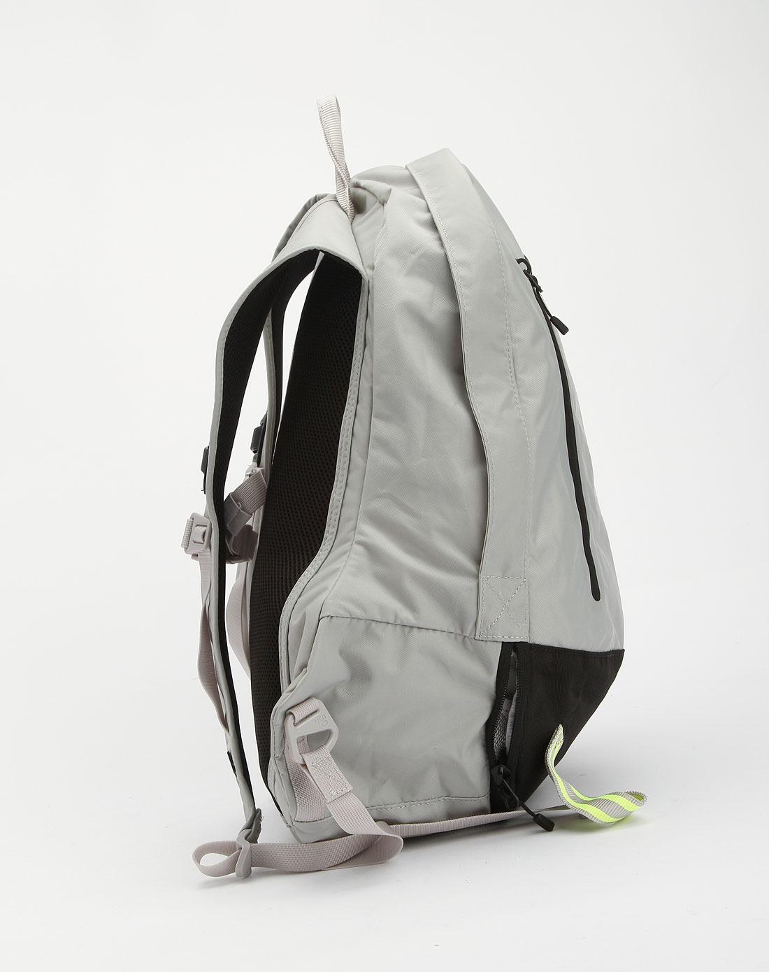 耐克nike-女款灰/黑/荧光绿色时尚双肩包