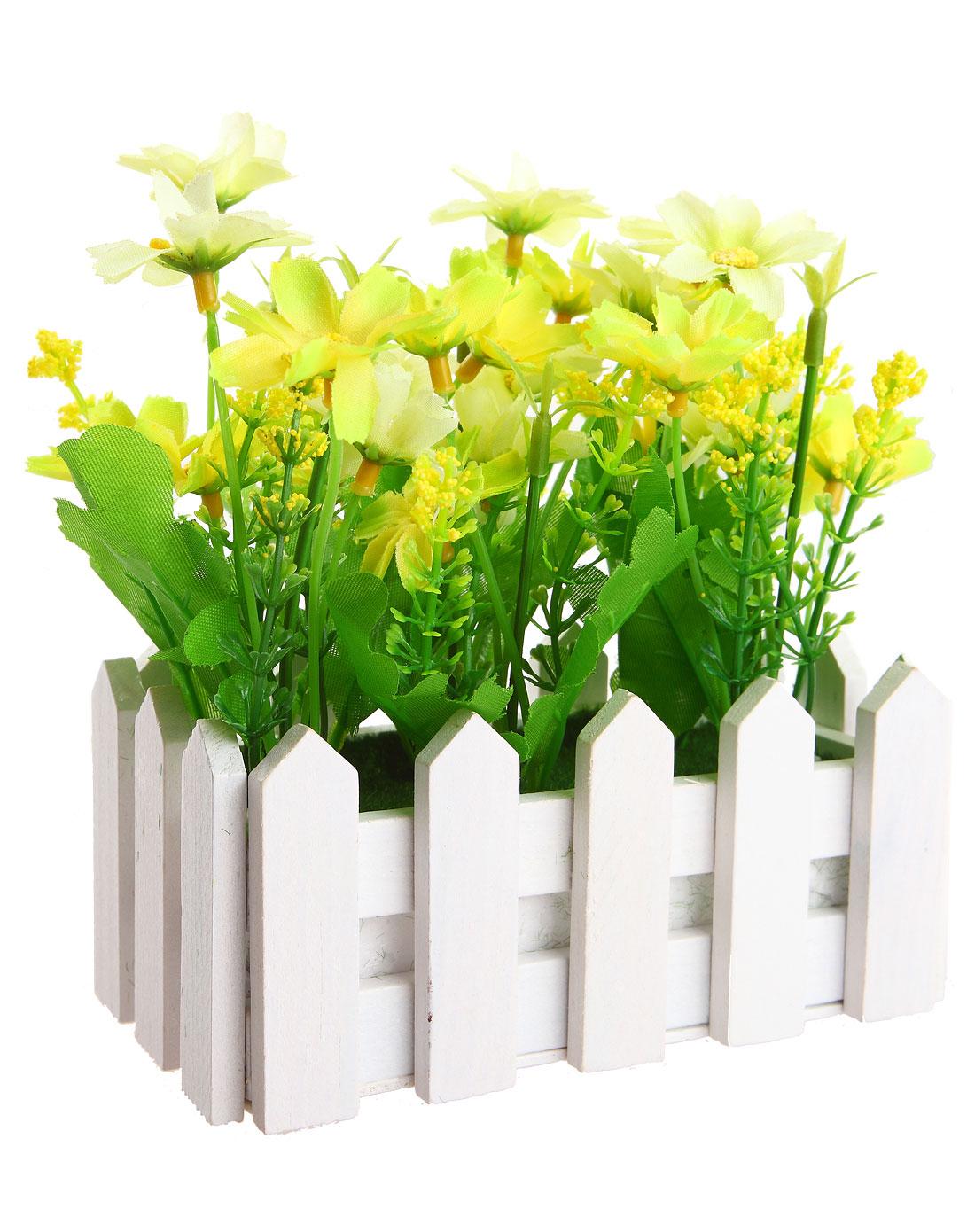 h&3家居用品专场白色长款欧式白栅栏仿真装饰花