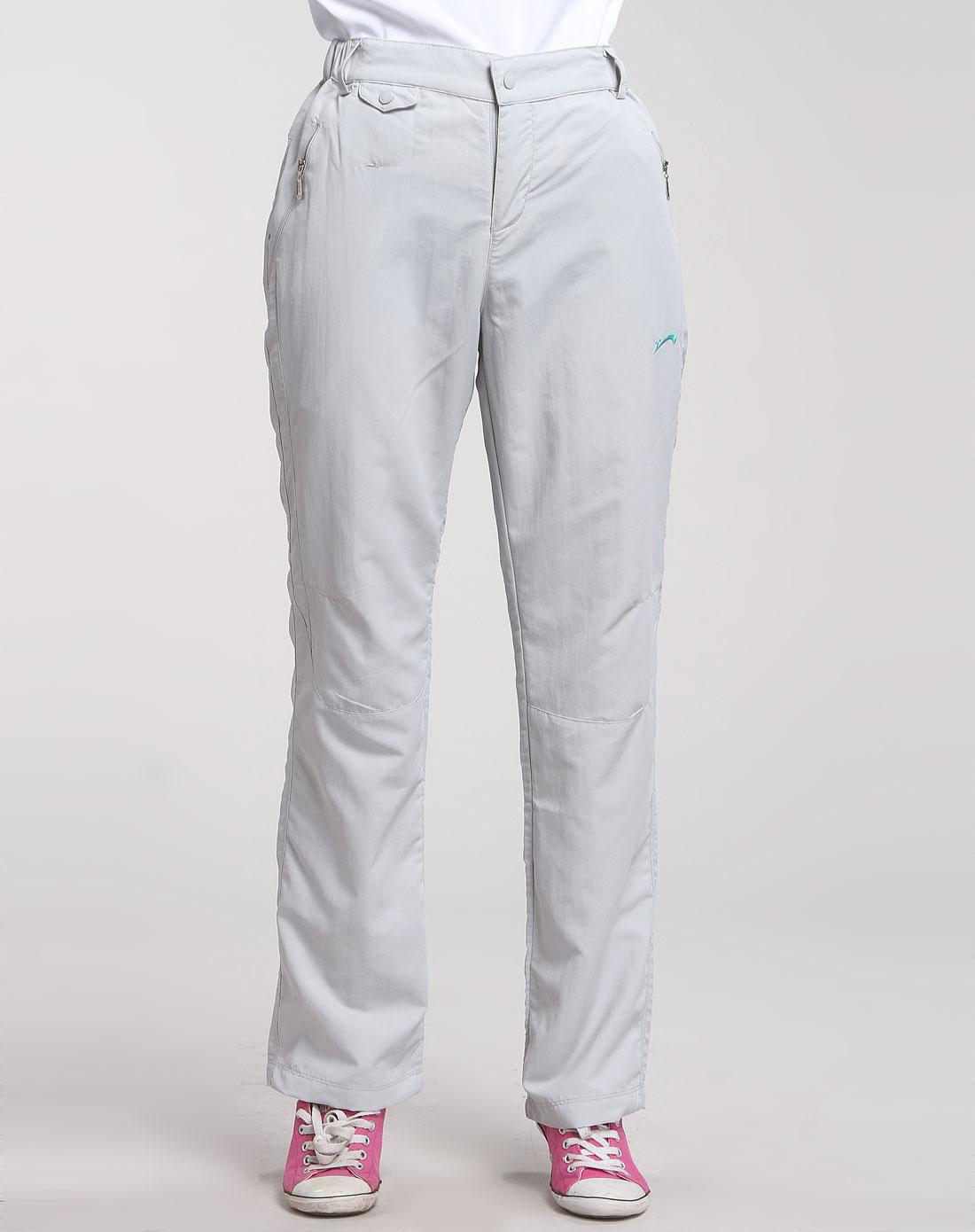 贵人鸟浅灰色经典运动长裤