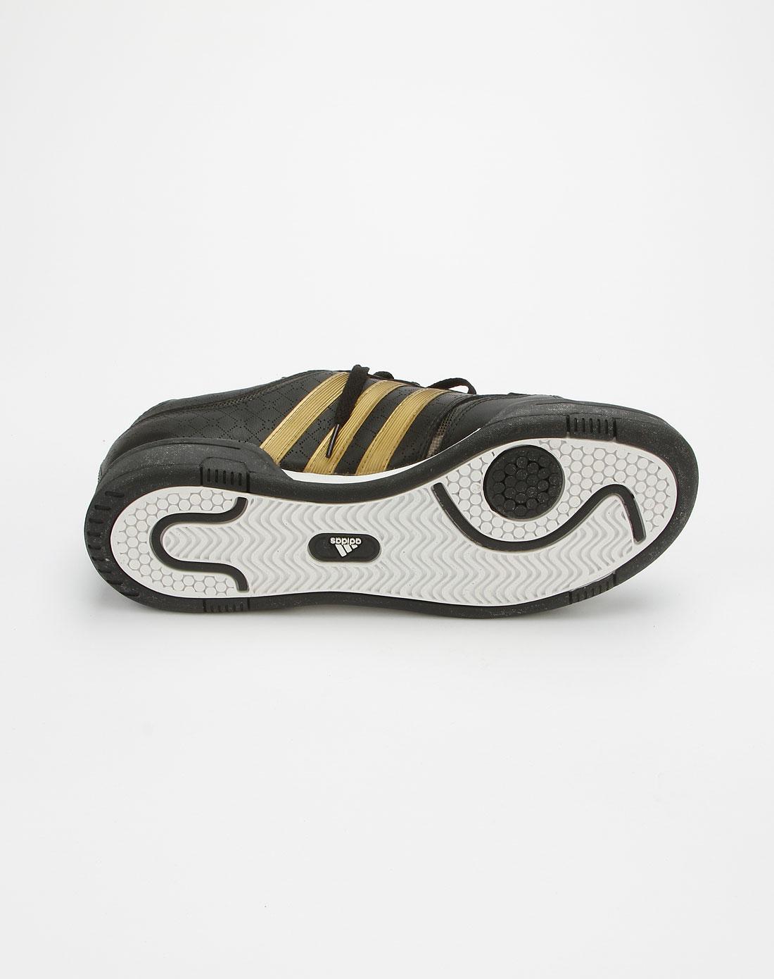 阿迪达斯adidas黑撞金色经典网球鞋g42102