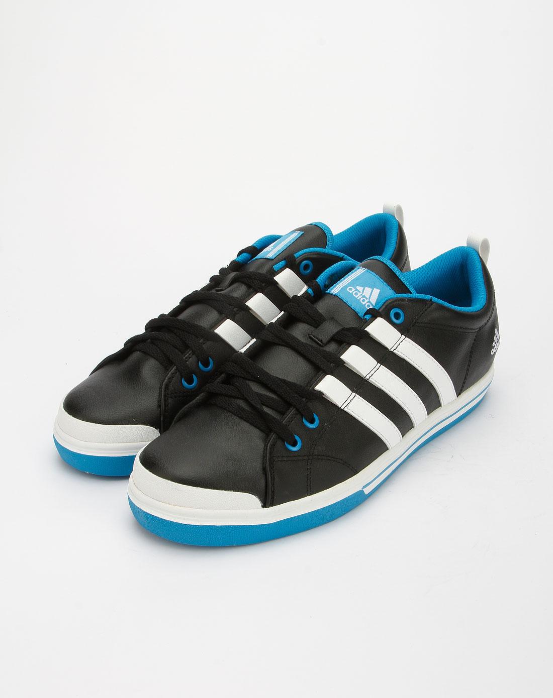 阿迪达斯adidas黑白蓝色运动鞋g46868