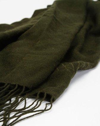 丽丽lily墨绿色围巾111330e90538