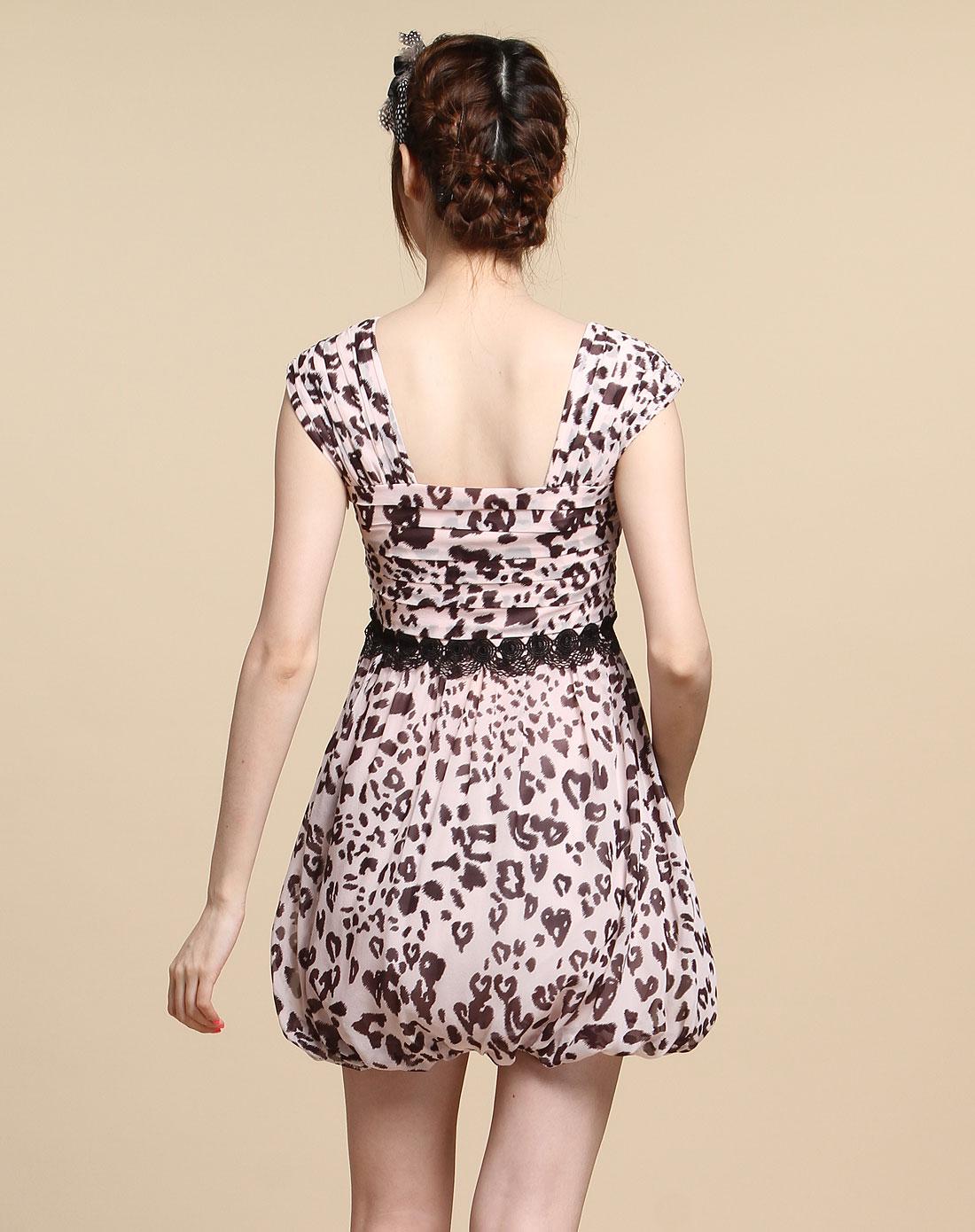 蕾丝无袖连衣裙