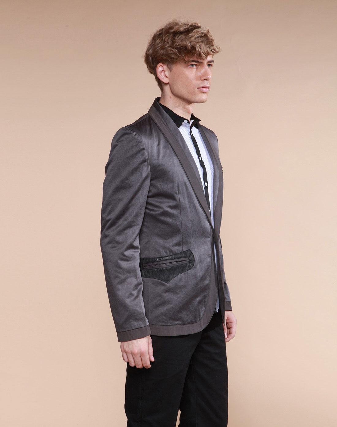 edge灰色_边缘地带EDGE灰色正装长袖西装G11030501