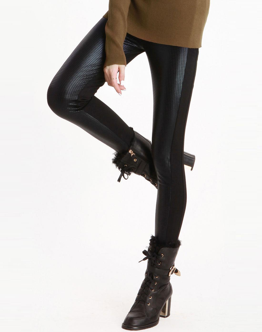 黑色加厚弹力小脚打底裤