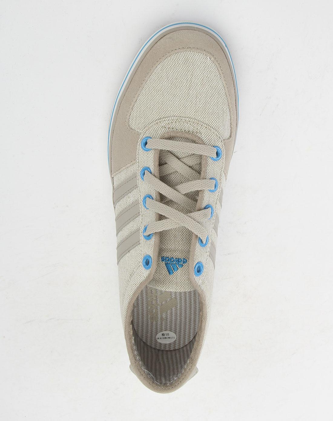 阿迪达斯adidas卡其色休闲帆布鞋u41504