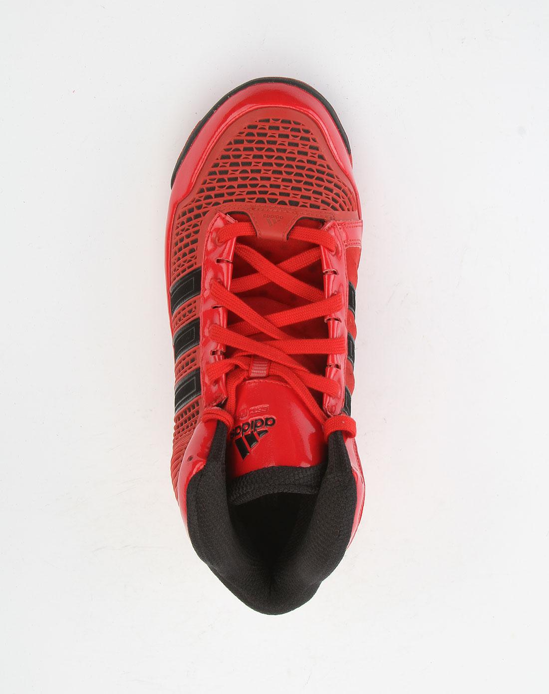 阿迪达斯adidas红色绑带个性篮球鞋g20725