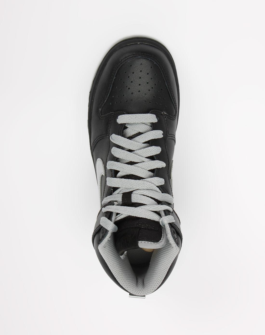 黑/银色高帮绑带运动鞋