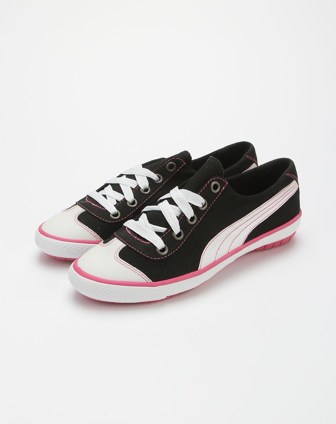 黑白色简约休闲帆布鞋