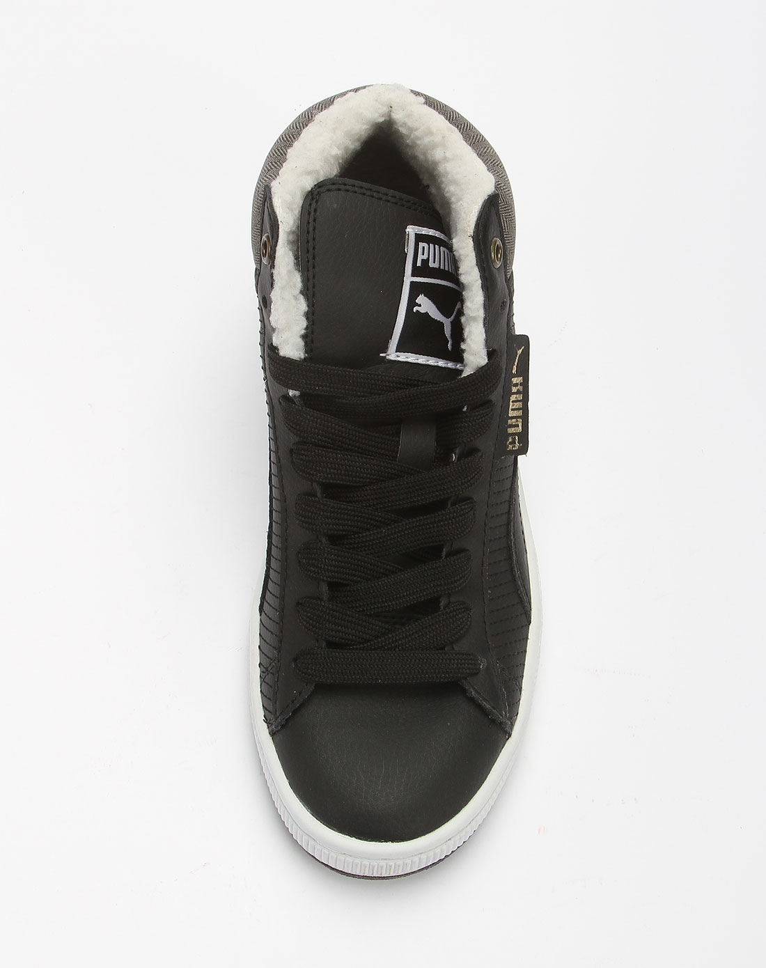 彪马puma黑色中帮休闲鞋35042101