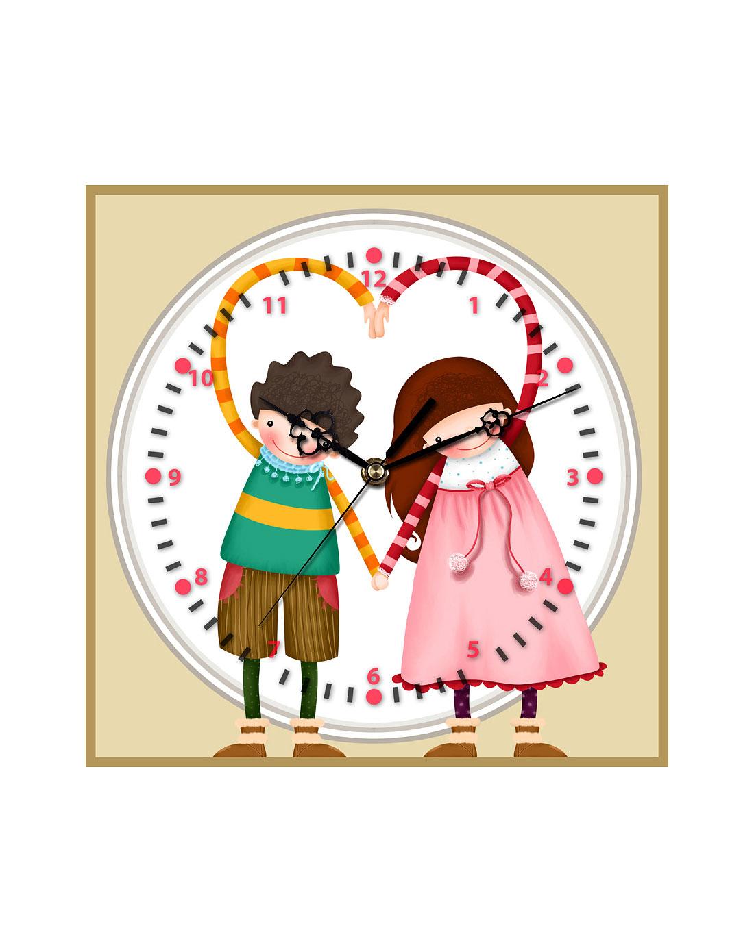 30*30cm浪漫爱情装饰画钟