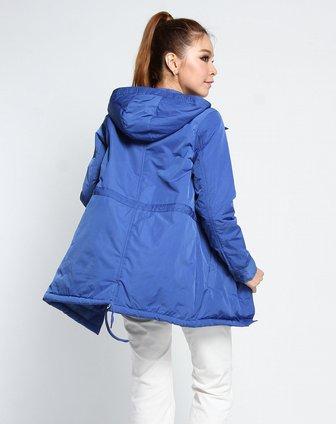 女款时尚优雅长袖外套浅蓝色