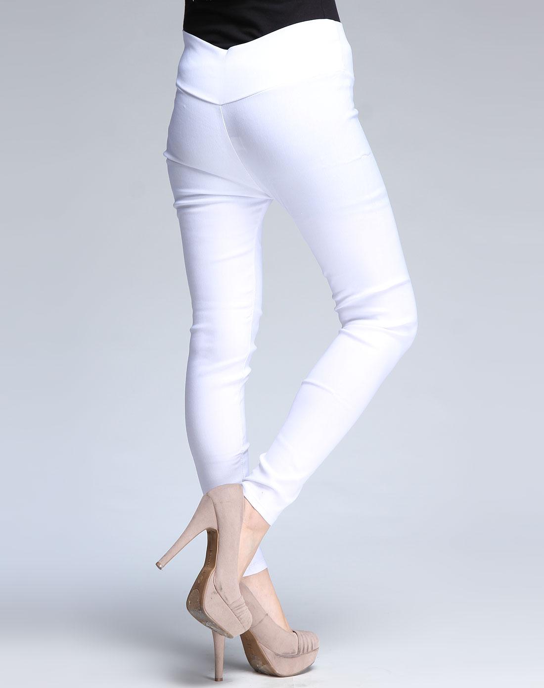 浪莎保暖内衣男女女士白色高腰弹力美腿时装长裤211