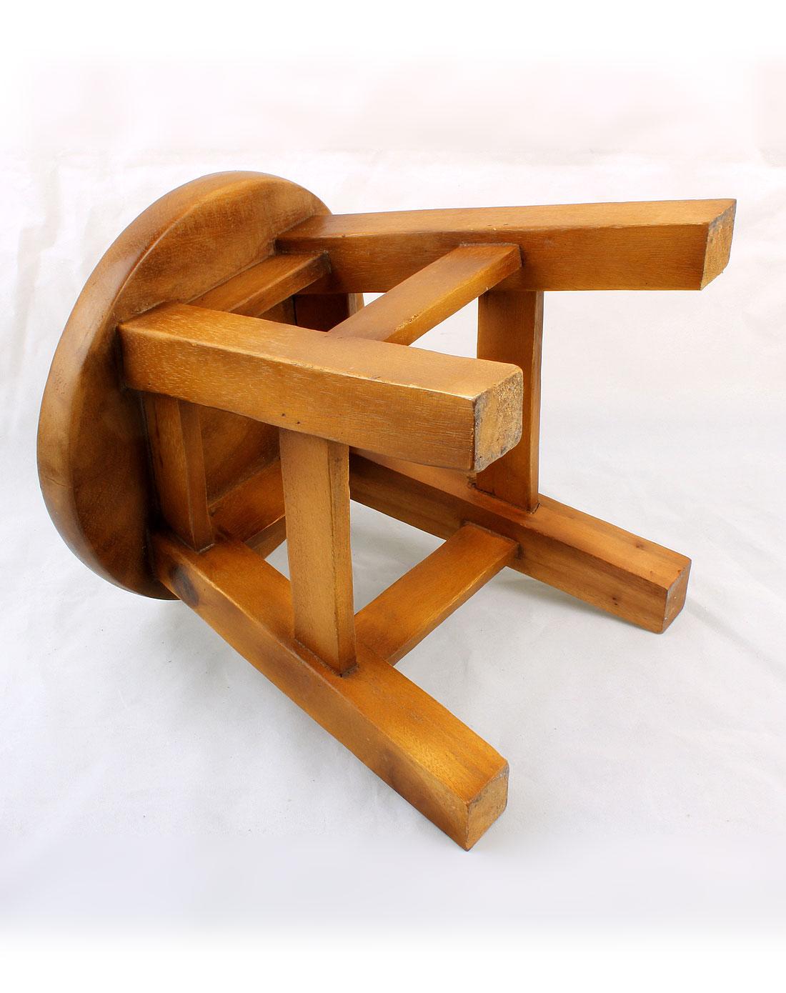泰国柚手工制作家居木凳 音乐熊 一对装