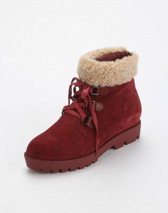 酒红色鞋子穿衣搭配