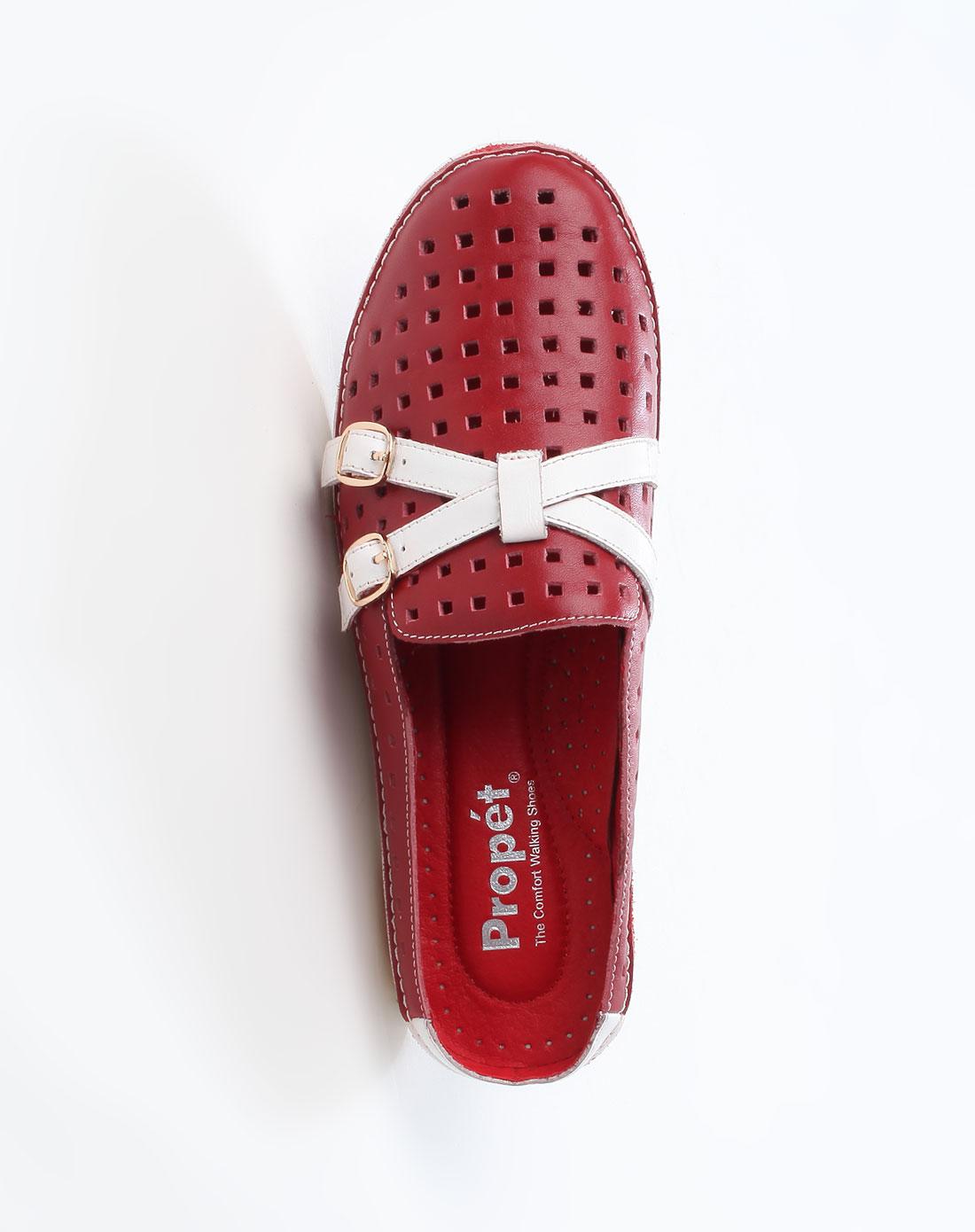 红/白色时尚凉鞋_波派propet-女鞋官网特价1.7-4