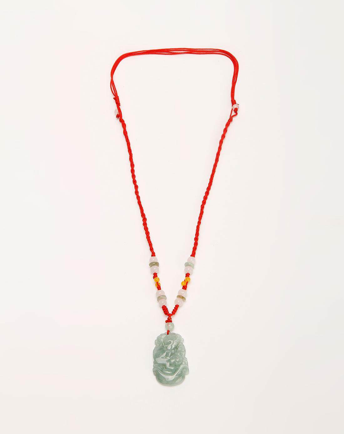 打结方法图解图片下载分享; 熙帝siddhi绿色猴玉石吊坠时尚编织项链;