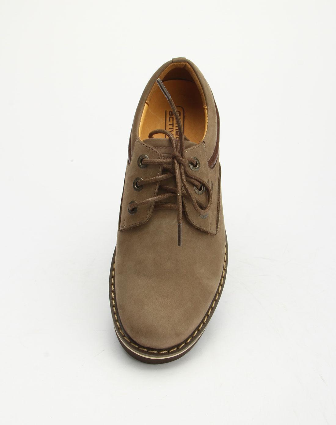 active女款灰色系带时尚休闲鞋