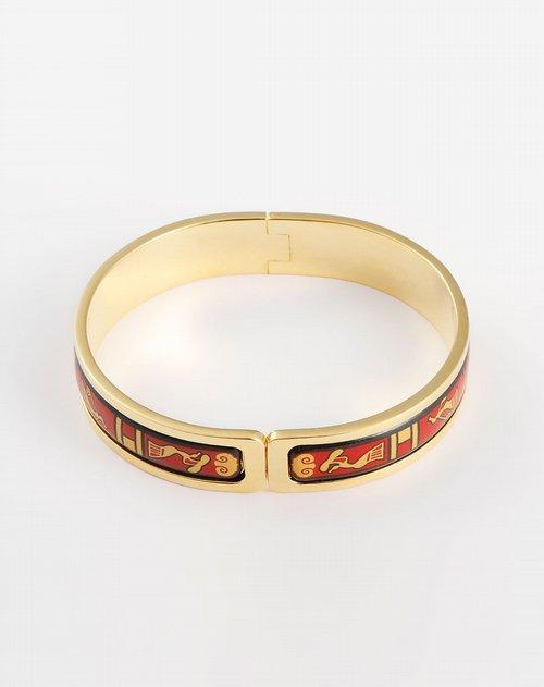 商品名称:女款红/金色人物图案金手镯 时尚又不失优雅的设计.