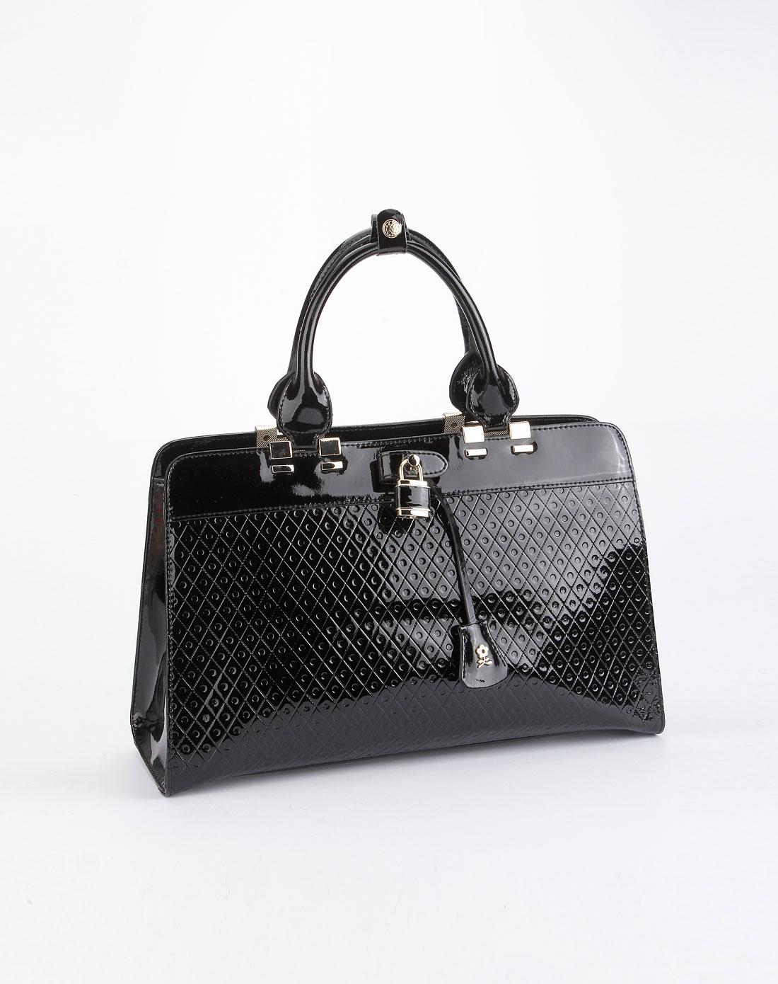 梦特娇montagut女款黑色印纹时尚手提包mdc31104022e
