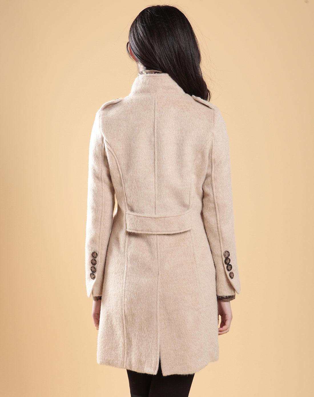 0:03米色羊毛大衣1240885-15