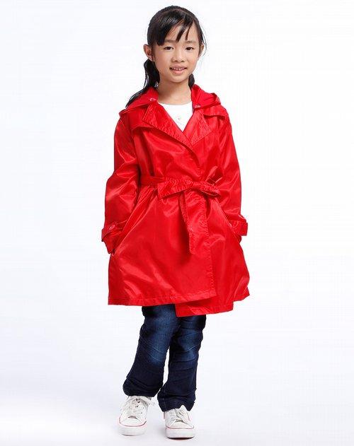 童装库存女童红色外套