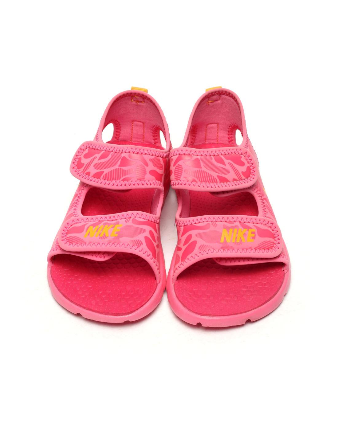 玫红色凉鞋443372-600
