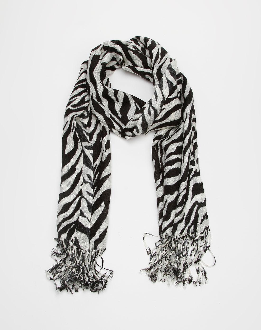 黑白画 围巾