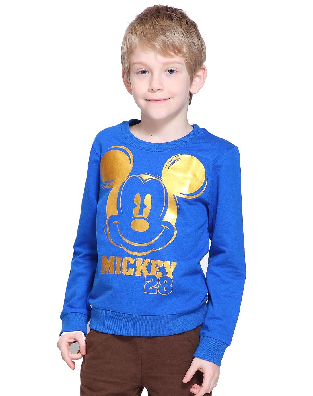 米奇男童针织圆领长袖衫