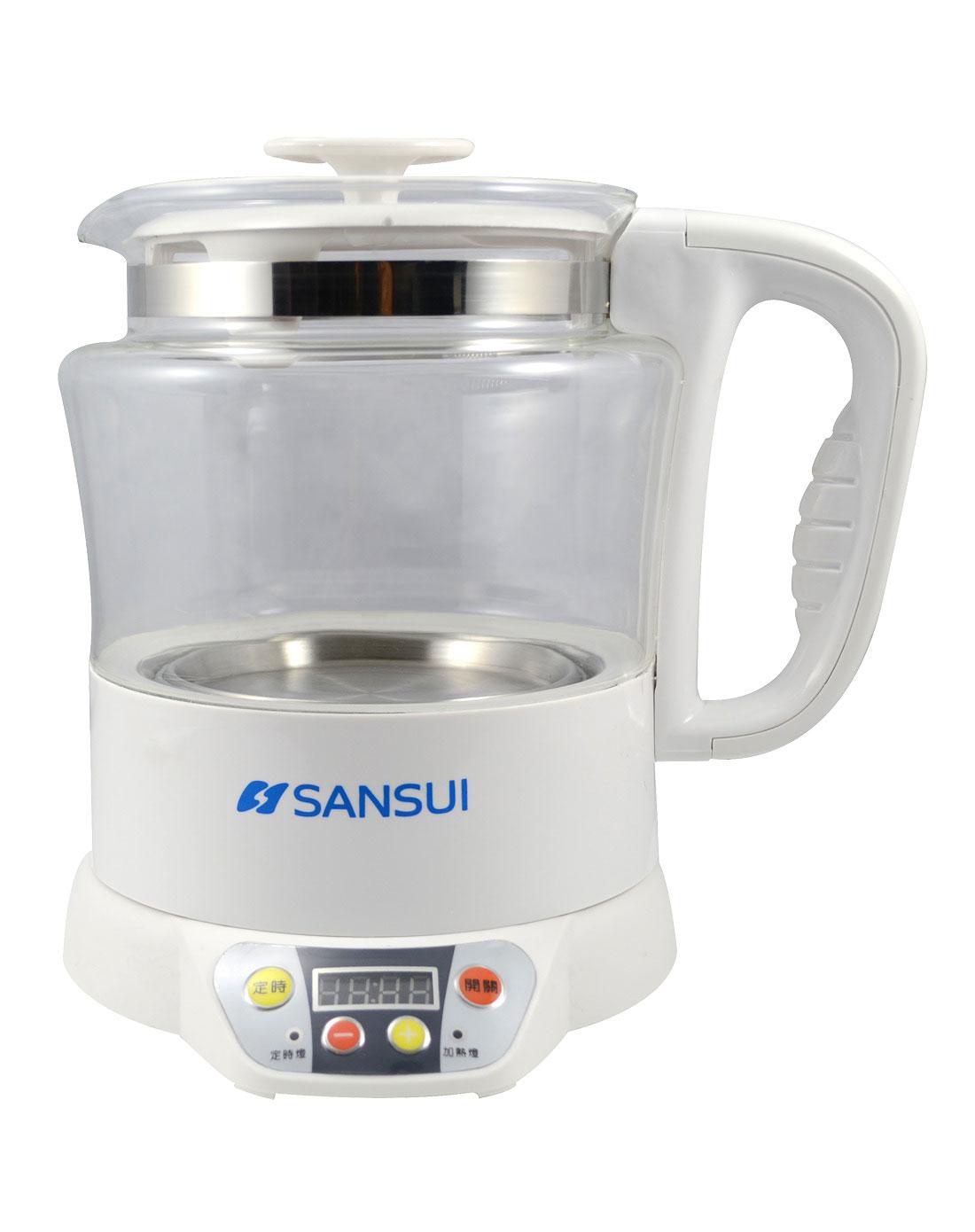 山水sansui电器专场白色分体全自动玻璃养生壶hbz