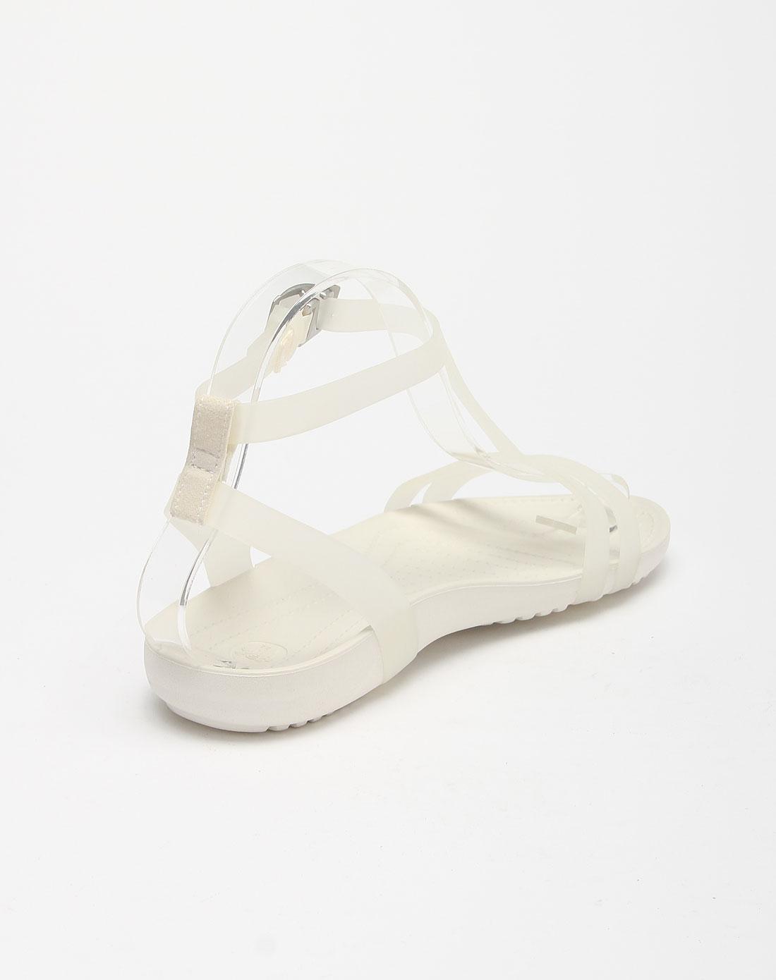 色/牡蛎色赛丝凉鞋休闲鞋
