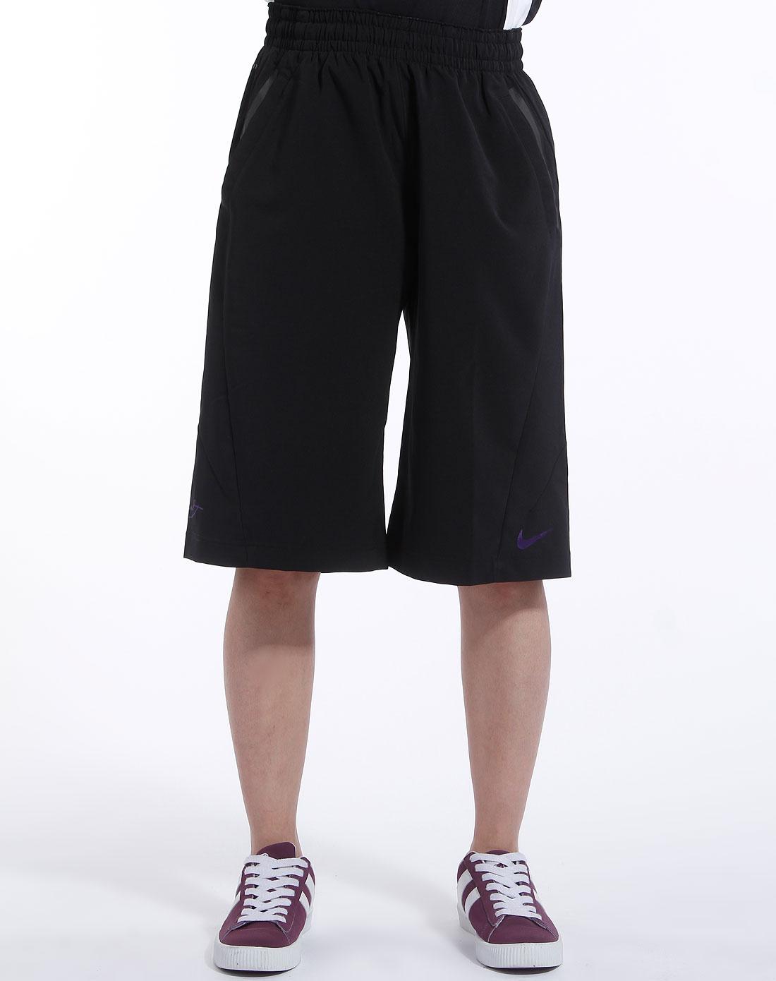 耐克nike-男装专场黑色运动梭织短裤