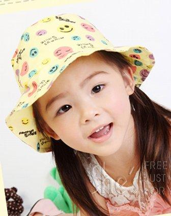 [ ] 茜子 纯棉笑脸儿童帽子