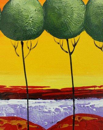 手绘油画-愿望树