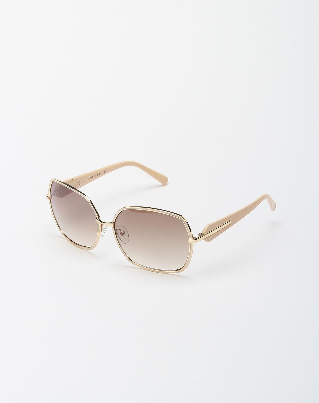 [ bailewei ] 青黄色金属边框太阳眼镜