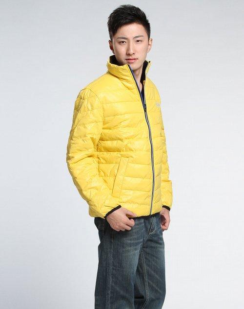 森马-男装男款黄色休闲简约长袖棉外套图片