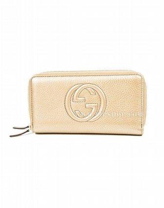 国际速递-guccigucci 女士长钱包香槟色306016-h90g