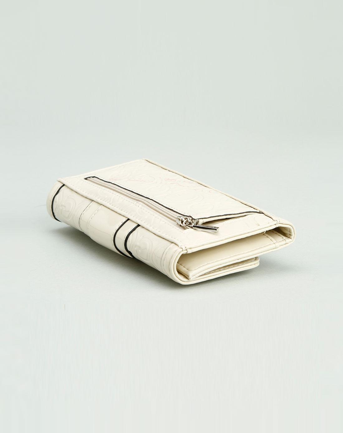 guess包包专场-女款米白色蛇纹高贵钱包