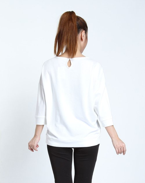 森马女装专场印字白色中袖t恤